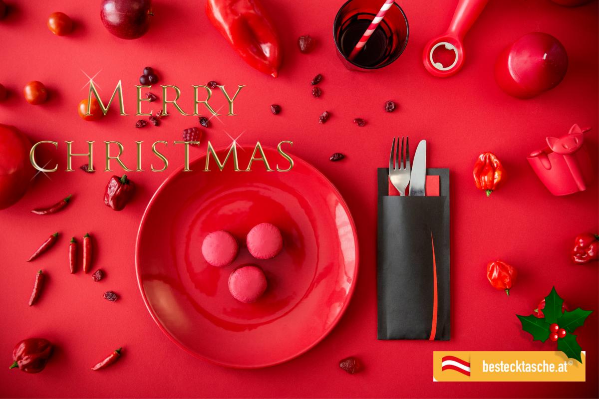 Frohe Weihnachten Besinnliche Feiertage.Frohe Weihnachten Bestecktasche At